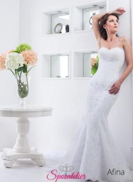 maria- abito da sposa a sirena semplice in pizzo