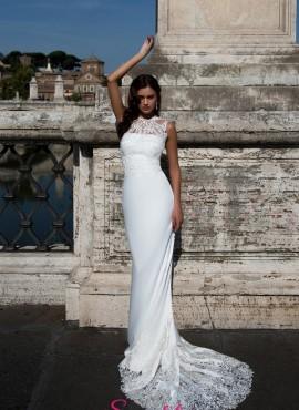 mary- abito da sposa a sirena ricamato in pizzo negozio italiano di abiti da sposa online economici