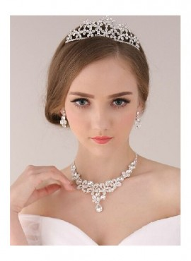 collana orecchini diadema sposa online