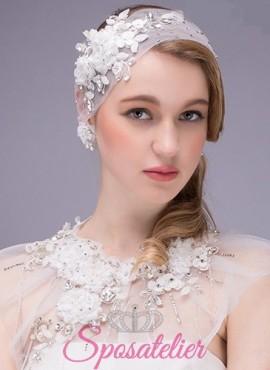 accessorio sposa per capelli online in tulle