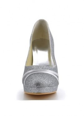 Scarpe da Sposa online decollete chiuse avanti con brillantini