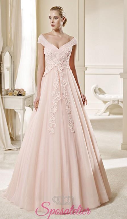 Abito Sposa Colorato Matrimonio Civile   Trieste vendita abiti da sposa  online colorati economici 11d717652a7