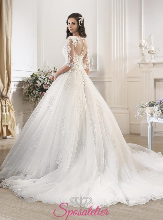 Ruzda-abiti da sposa online ampio palloncino tulle pizzoSposatelier