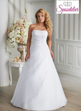 abito da sposa  semplice taglie conformate per donna formosa  Economico