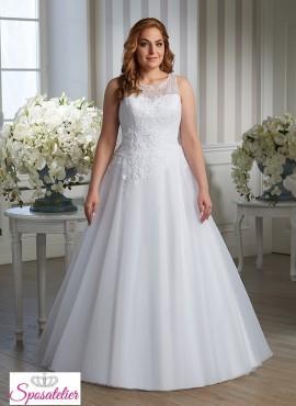 abiti da sposa per taglie comode ricamati economici online ampio