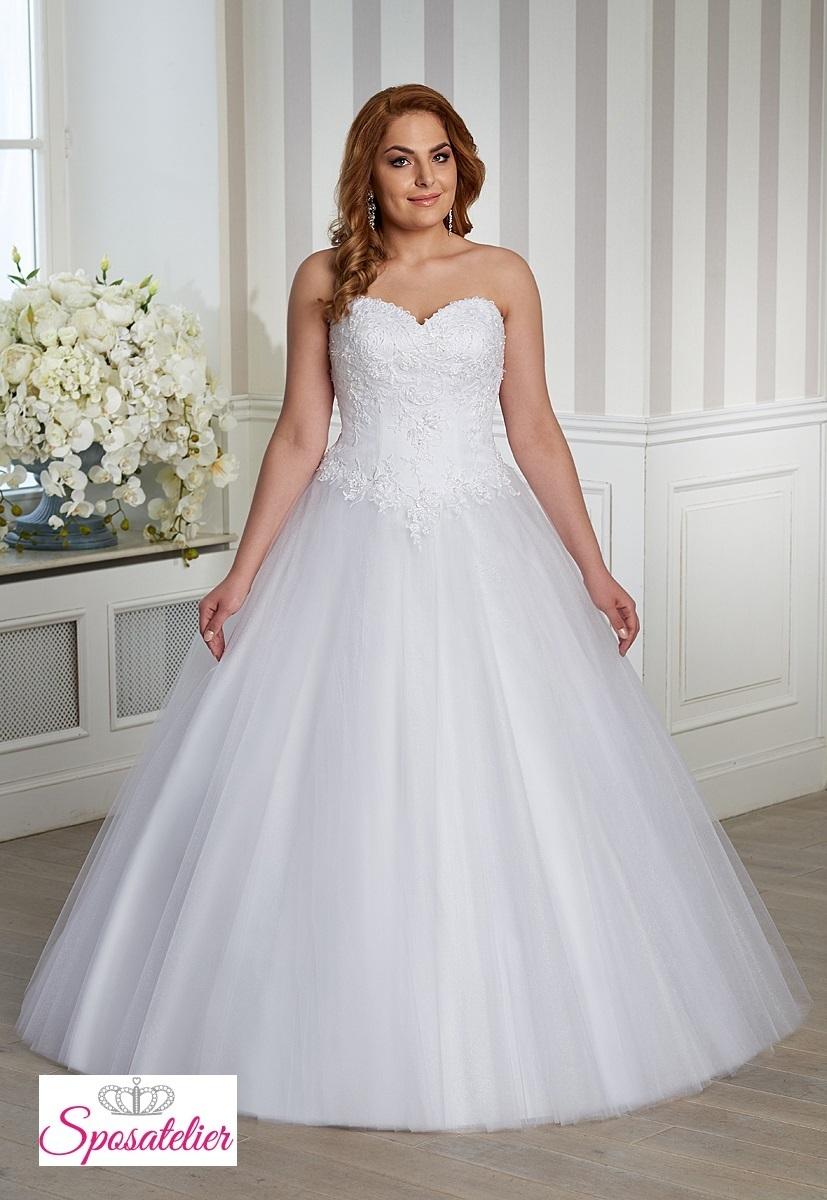 766cd2c13447 Abiti Da Sposa Xl ~ Abiti da sposa per taglie comode principessa elegante e