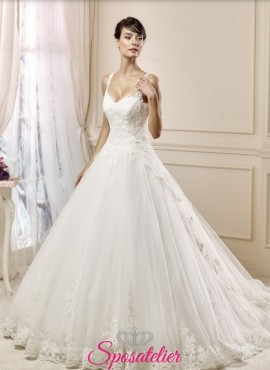 amelì- abito da sposa realizzato su misura Italia ampio in pizzo