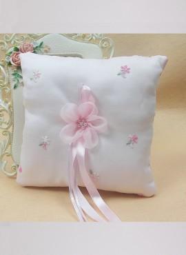 romantico Cuscino porta fedi con fiocco rosa elegante economico online lowcost