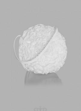 borsa per matrimonio sposa in raso bianca o avorio