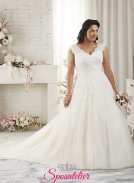 parma- abiti da sposa 2017 taglie comode principesco con punti luce