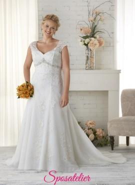 nocera- abiti da sposa 2017 taglie comode con punti luce