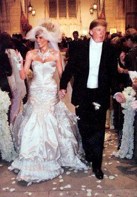 Melania è la donna che ha sposato Donald Trump con un abito da ...