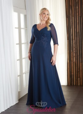 abiti da cerimonia online economici taglie comode mamma sposa