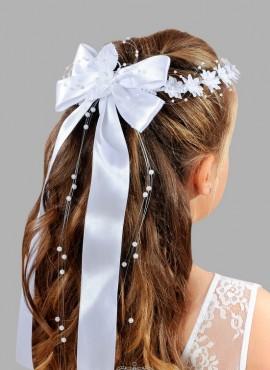 coroncina con fiocco prima comunione bimba accessori per capelli vendita online