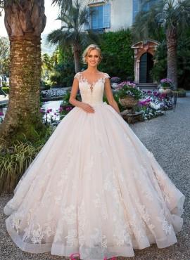 abiti da sposa con gonna ampia da principessa tendenza 2018