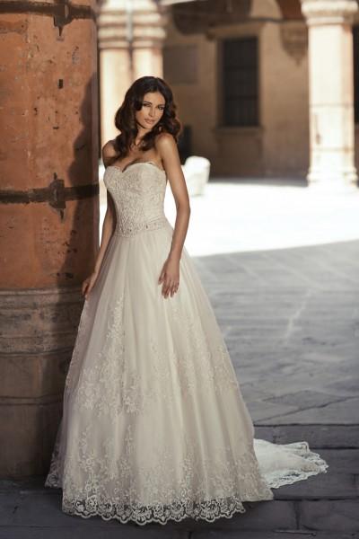gilda- abito da sposa palloncino tessuti pizzo tulle strass