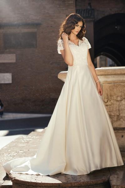 laila- abito da sposa principessa tessuto organza pizzo