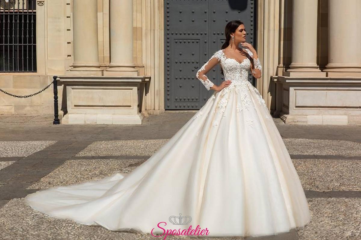 abiti da sposa principeschi gonna gonfia nuova collezione vendita online b593dbfafbe