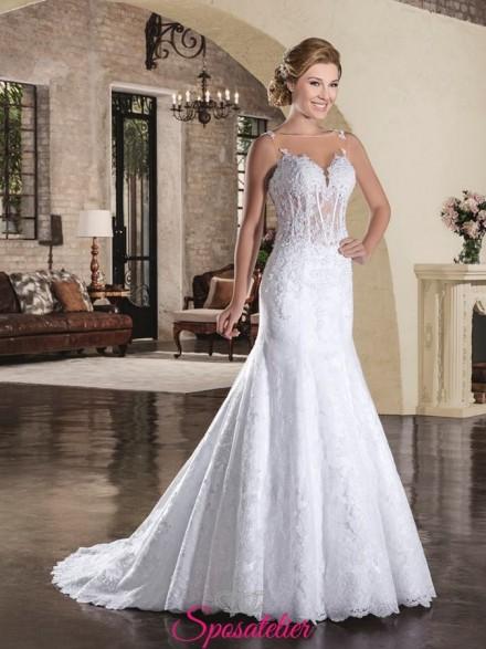 elviana- abito da sposa in pizzo modello a sirena