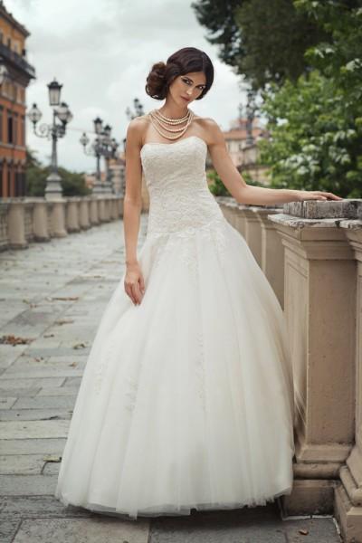 carola- abito da sposa principessa 2016 tulle pizzo