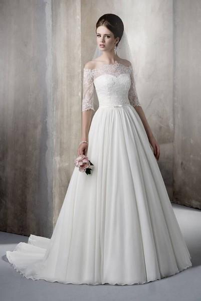 abito da sposa chiffon