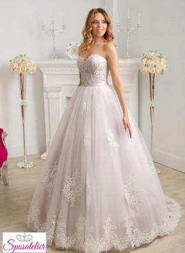 Abiti da sposa rosa confetto