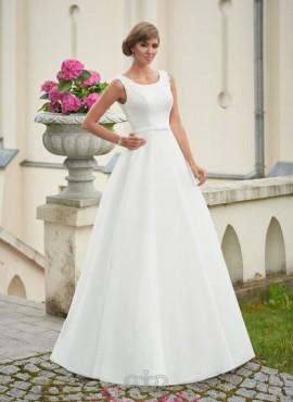 mina- abito da sposa a-line online in raso elegante economico