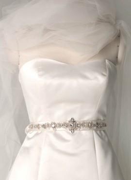 cintura abito sposa online in raso con strass