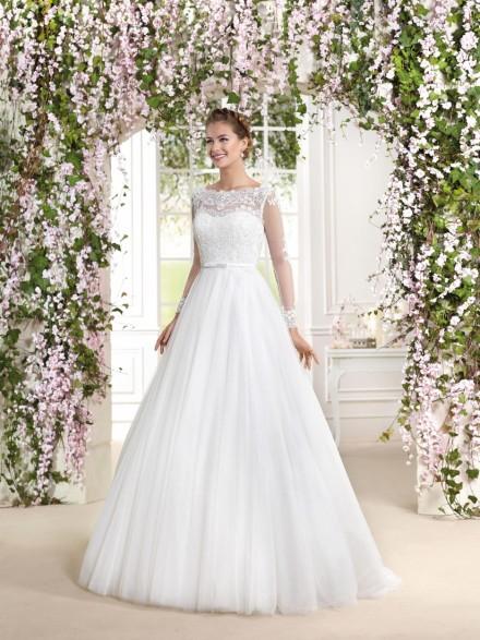 antonietta- abito da sposa modello principessa organza pizzo