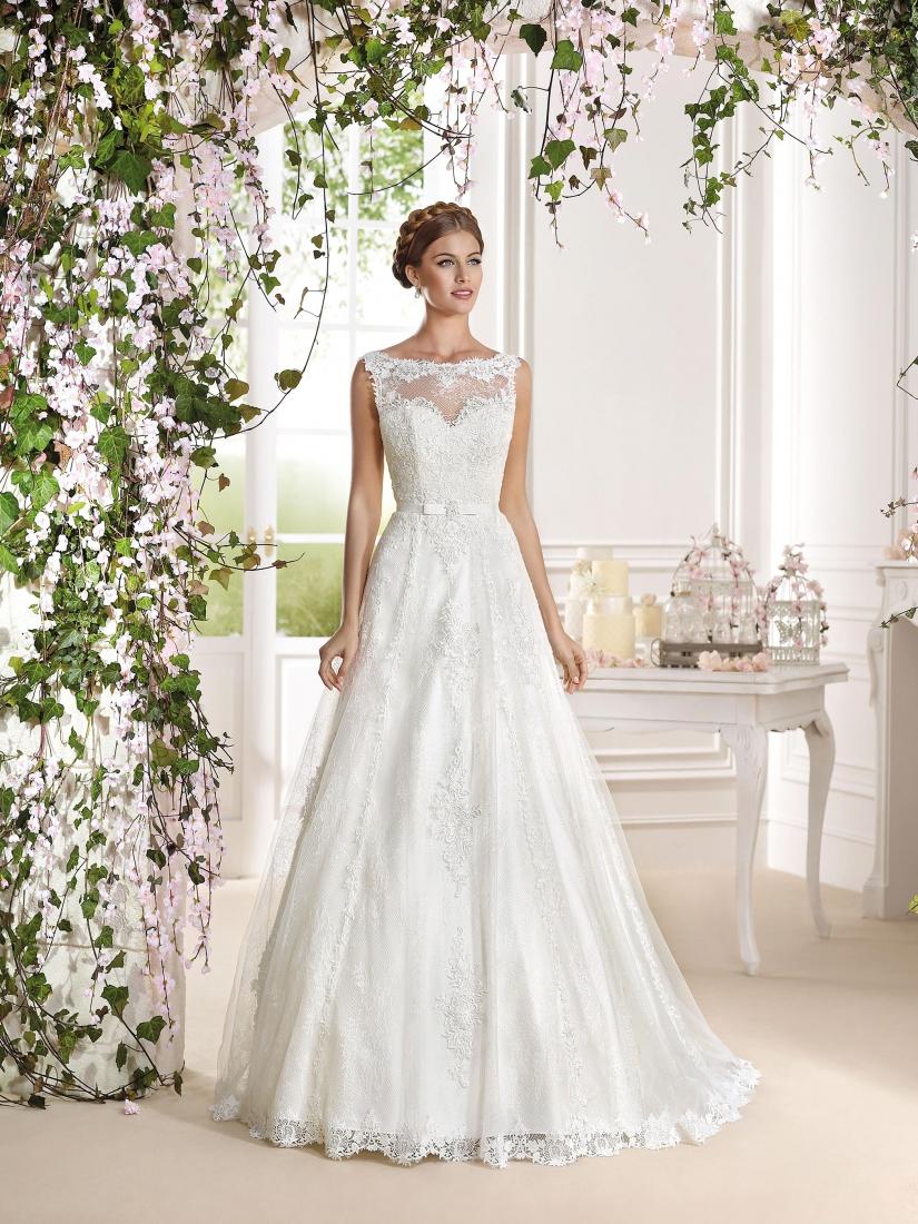 Estremamente clara- abito sposa a-line online pizzo organza tulleSposatelier HD45