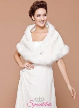 pelliccia sposa online con spilla argento