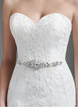 cintura vestito sposa online con strass