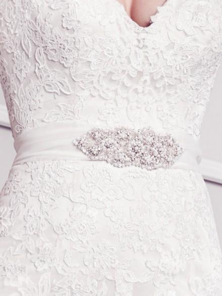 cintura abito sposa online in organza e strass