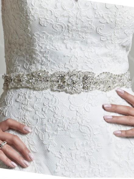 cintura abito sposa online decorata con strass