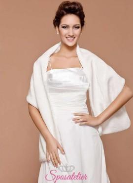 pelliccia abito da sposa inverno