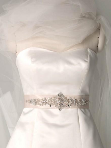 cintura abito sposa online raso con strass