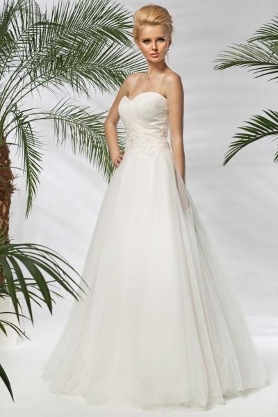 agnese- abiti da sposa online stile a-line tulle organza perline