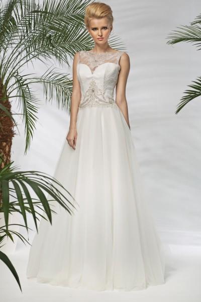 boana – abito da sposa stile a-line tulle organza  scollo cuore