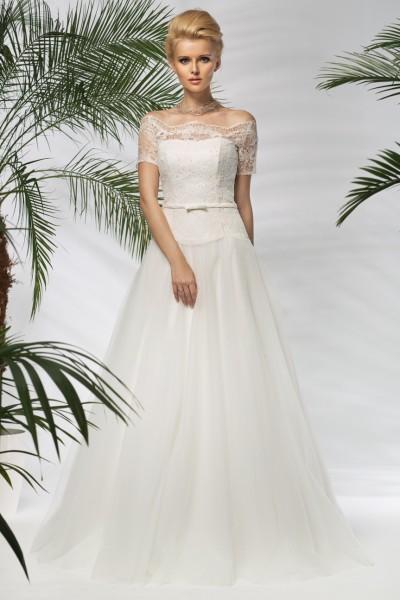 domenica- abito da sposa a-line online 2016 organza pizzo