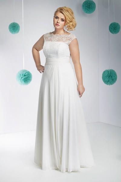 carmela- abiti sposa taglie forti stile a-line
