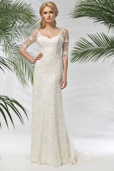 enza- abito da sposa modello a sirena  2016 in pizzo