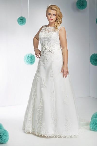 emilia- abito da sposa taglie forti tessuti organza pizzo