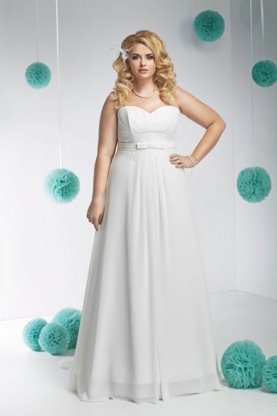 gina- abito da sposa taglie forti 2016 elegante raso