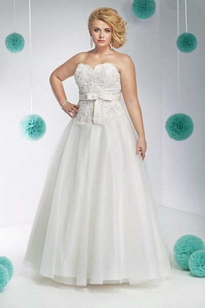 paolina- abito da sposa taglie forti a palloncino  in tulle