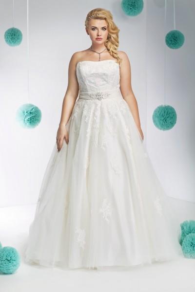 susanna- abito da sposa taglie forti a-line modello principessa  organza