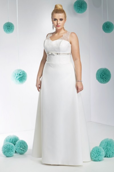 tiziana- abito da sposa taglie forti modello a-line  raso