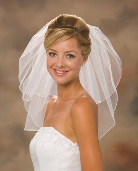 velo sposa online economico tulle decorato corto