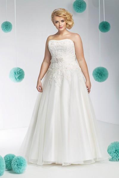 vanessa- abito da sposa taglie forti principessa  taglio a-line
