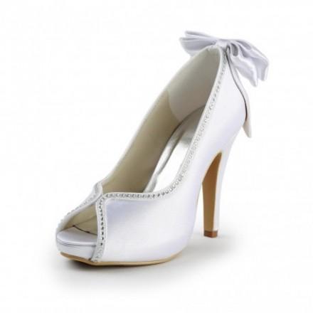 Scarpe Sposa online con strass e fiocco spuntate