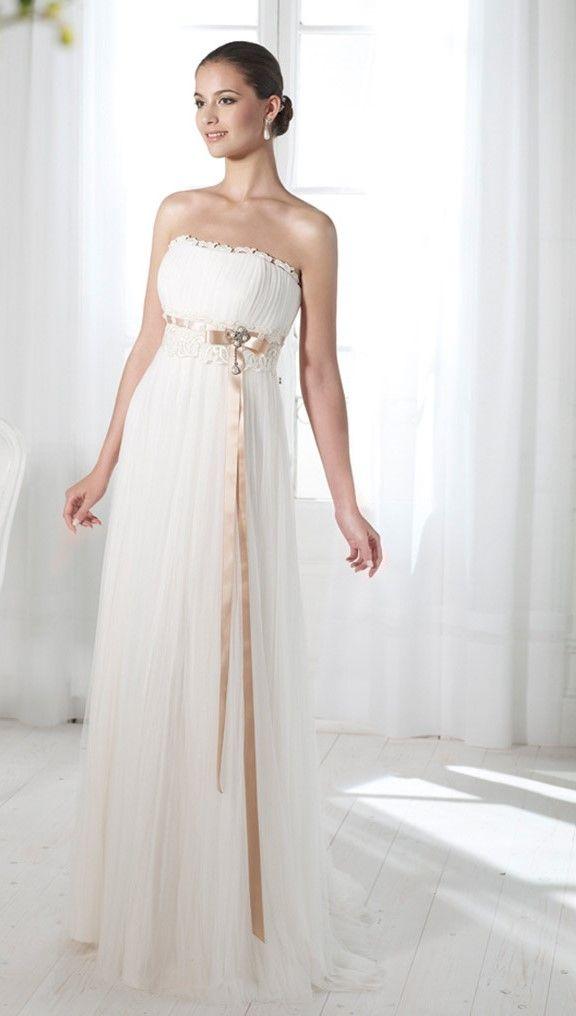 huge discount b1131 a642d CLORINDA-abito da sposa premaman online